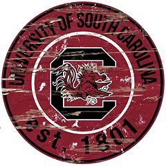 South Carolina Gamecocks Distressed 24' x 24' Round Wall Art