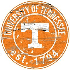Tennessee Volunteers Distressed 24' x 24' Round Wall Art