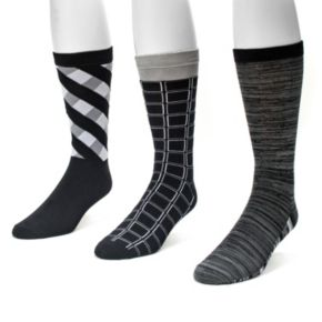 Men's MUK LUKS 3-pack Patterned Crew Socks