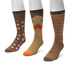 Men's MUK LUKS 3-pack Patterned Crew Socks