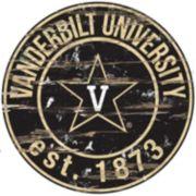 "Vanderbilt Commodores Distressed 24"" x 24"" Round Wall Art"