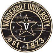 Vanderbilt Commodores Distressed 24' x 24' Round Wall Art