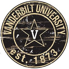 Vanderbilt Commodores Distressed 24' x 24' Round Wall Art