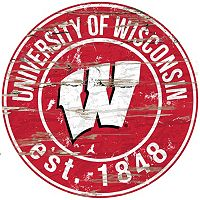 Wisconsin Badgers Distressed 24