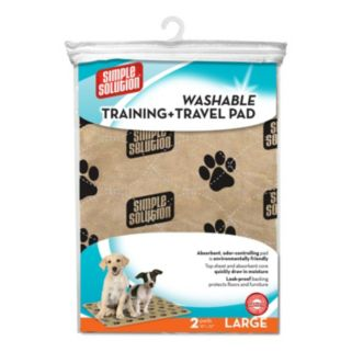 Simple Solution 2-Piece Washable Pet Training & Travel Pad Set