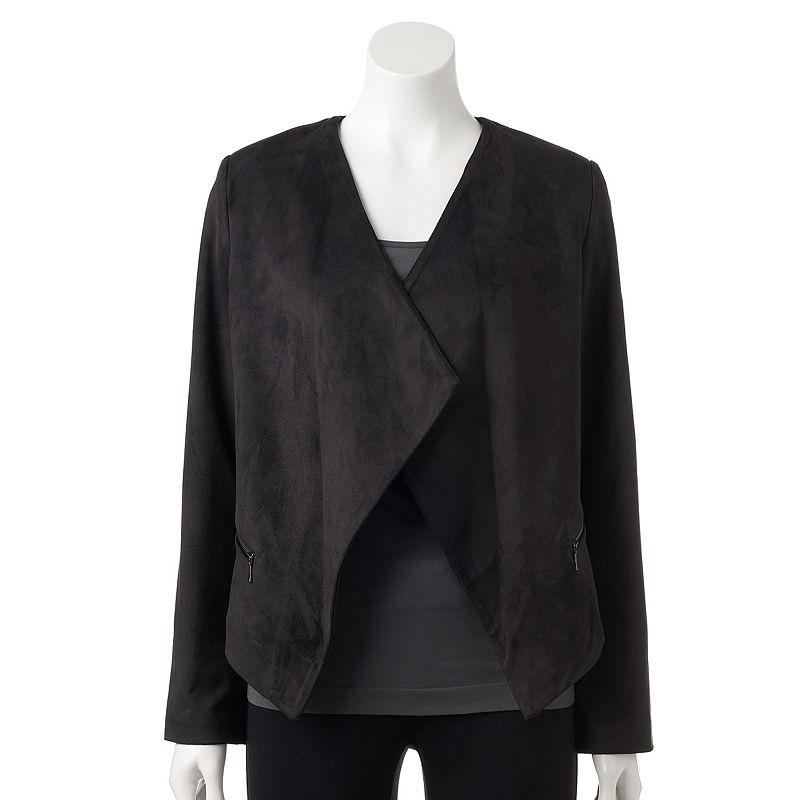 Women's Gloria Vanderbilt Open-Front Jacket