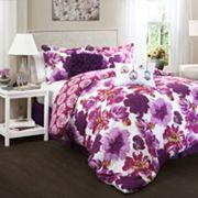 Lush Decor Leah 7 pc Reversible Comforter Set