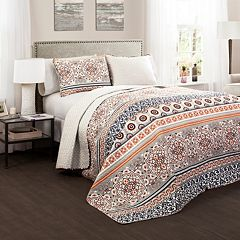 Lush Decor Nesco 3 pc Reversible Quilt Set