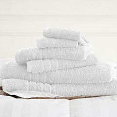 Spa Collection 6 pc Solid Bath Towel Set