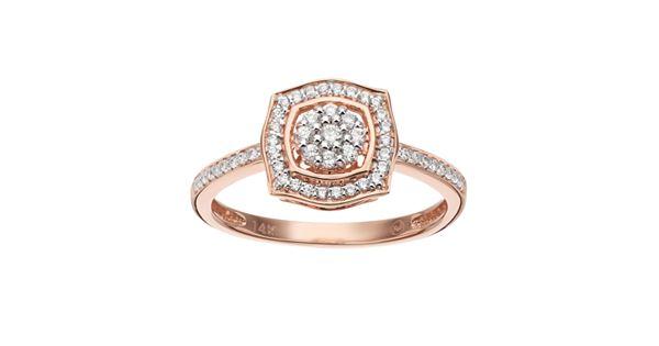 Simply Vera Vera Wang 1 4 Carat T W Diamond 14k Rose Gold