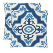 Safavieh 2-piece Marbella Outdoor Throw Pillow Set