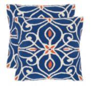 Safavieh 2-piece Algarbe Outdoor Throw Pillow Set