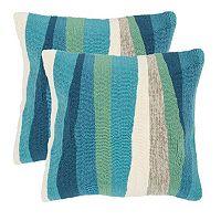 Safavieh 2-piece Ocean Abstract Outdoor Throw Pillow Set