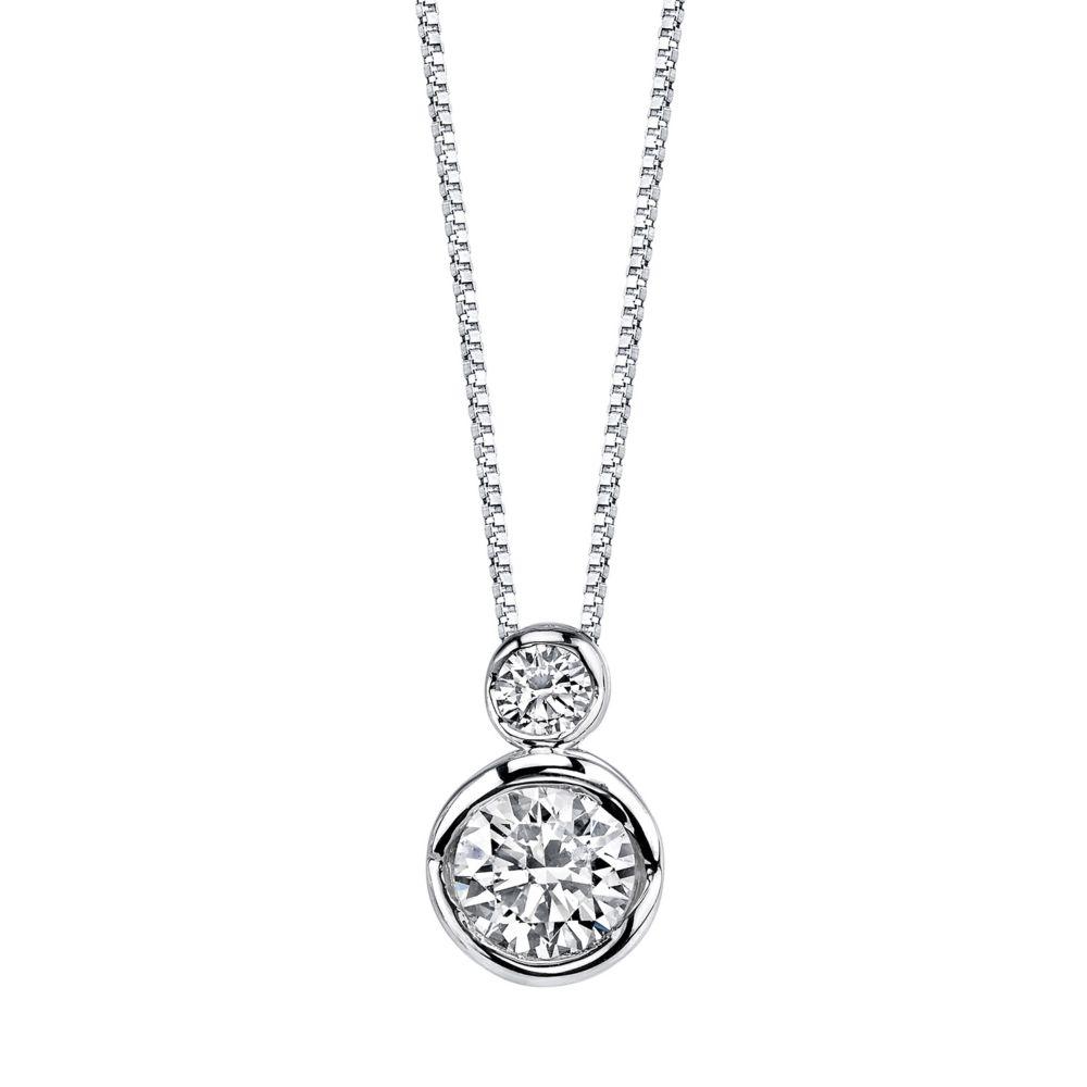 Sirena Collection 1/4 CT. T.W. Diamond 14K Yellow Gold Pendant Necklace Ikfz0j