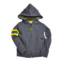 Baby Boy Burt's Bees Baby Organic Striped Full-Zip French Terry Hoodie