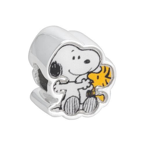 Peanuts Sterling Silver Snoopy & Woodstock Bead
