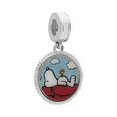 Peanuts Sterling Silver 'Best Friends' Snoopy Charm
