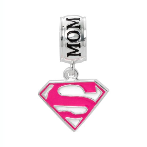 Sterling Silver Supermom Charm