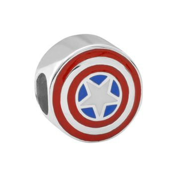 Marvel Sterling Silver Captain America Bead