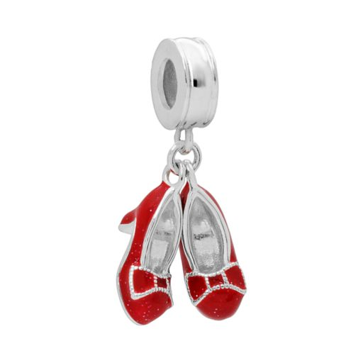 The Wizard of Oz Sterling Silver Ruby Slipper Charm