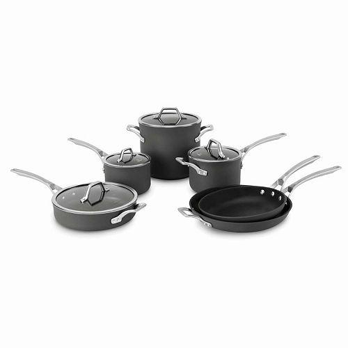 Calphalon Signature 10-pc. Hard-Anodized Nonstick Aluminum Cookware Set
