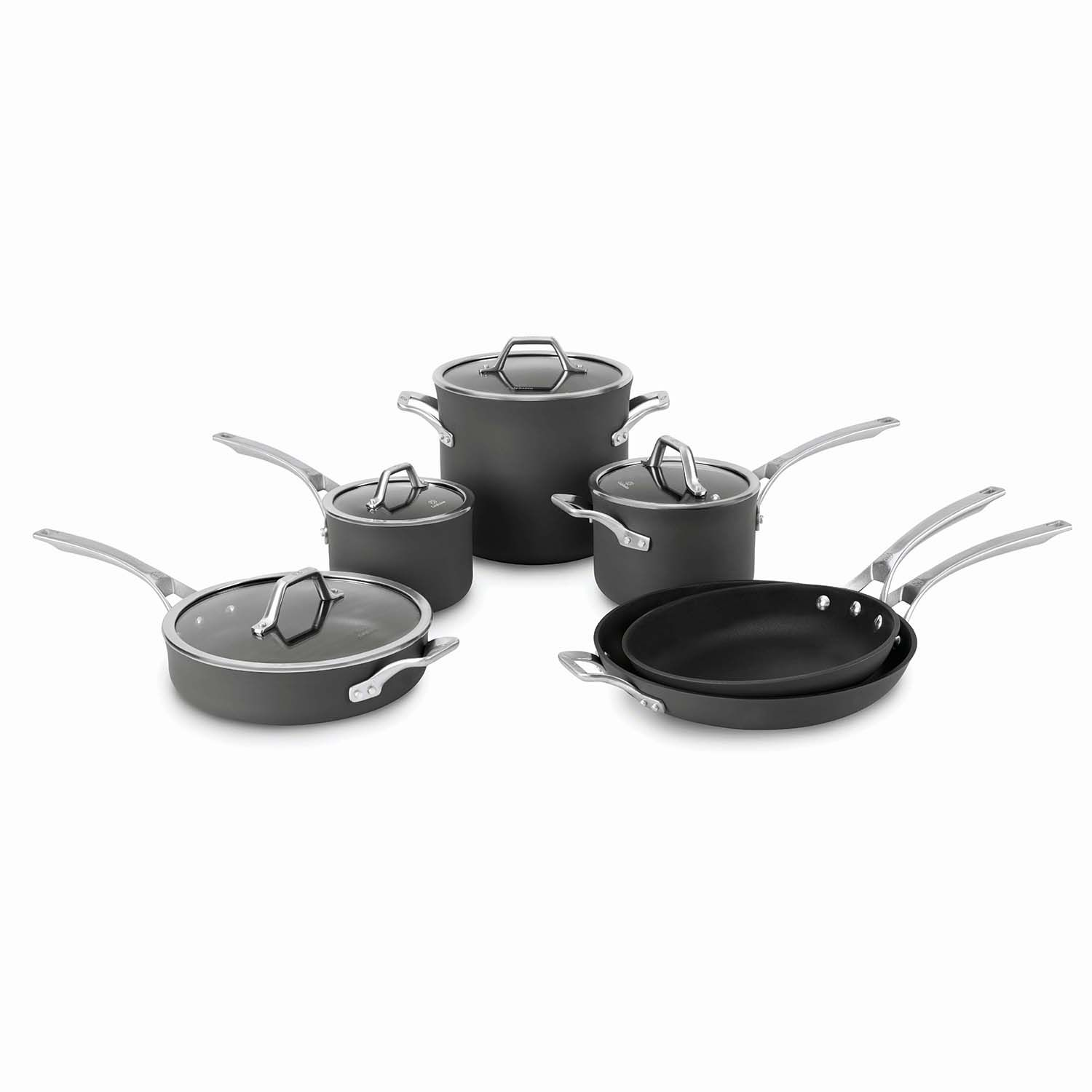 calphalon signature 10pc nonstick aluminum cookware set