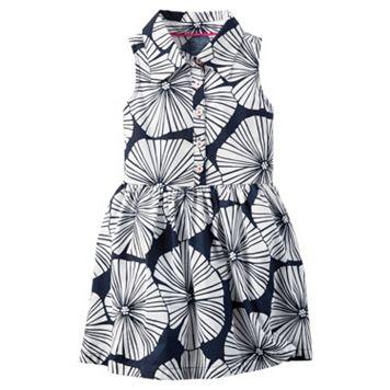 Girls 4-8 Carter's Collared Flower Printed Dress