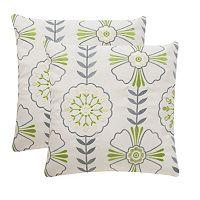 Safavieh 2 pc Flower Power Outdoor Throw Pillow Set