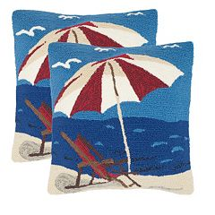 Safavieh 2-piece Beach Lounge Outdoor Throw Pillow Set