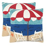 Safavieh 2-piece Beach Chair Outdoor Throw Pillow Set