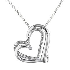 Stella Grace Sterling Silver Heart Pendant Necklace