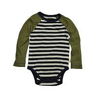 Baby Boy Burt's Bees Baby Organic Stripe Raglan Bodysuit