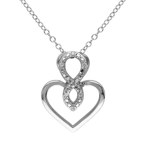 stella grace diamond accent sterling silver infinity heart