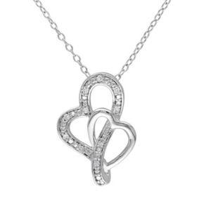Stella Grace Diamond Accent Sterling Silver Heart Pendant Necklace