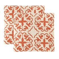 Safavieh 2-piece Moroccan Outdoor Throw Pillow Set