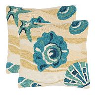 Safavieh 2-piece Beyond the Sea Outdoor Throw Pillow Set
