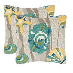 Safavieh 2 pc Beyond the Sea Outdoor Throw Pillow Set
