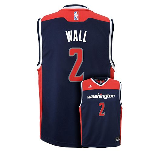 reputable site 43f9d 2429a Boys 8-20 adidas Washington Wizards John Wall Jersey