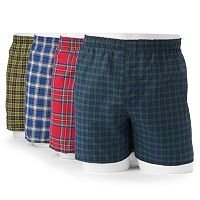 Hanes 4-pk. Tartan Plaid Boxers - Men