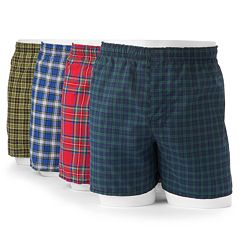 Hanes 4 pkTartan Plaid Boxers - Men