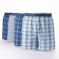 Hanes 4-pk. Plaid Boxers - Men