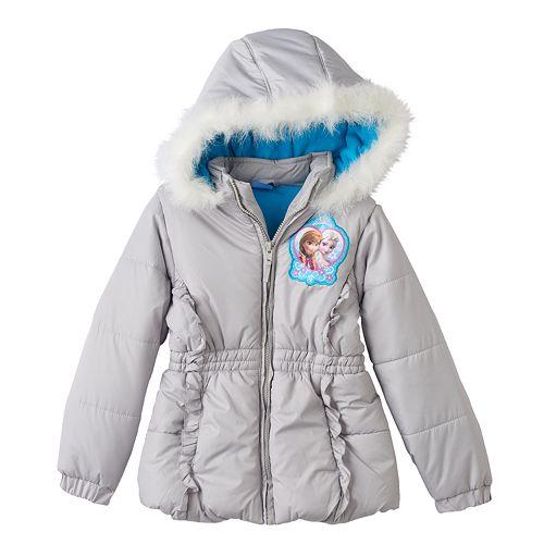 1d78552efb63 Disney's Frozen Elsa & Anna Hooded Puffer Jacket - Girls 4-6x