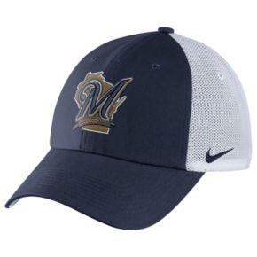 Adult Nike Milwaukee Brewers Heritage86 Dri-FIT Adjustable Cap