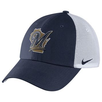 Adult Nike Milwaukee Brewers Heritage86 Dri-FIT Adjustable Cap