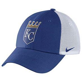 Adult Nike Kansas City Royals Heritage86 Dri-FIT Adjustable Cap