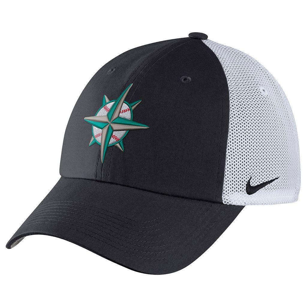 Adult Nike Seattle Mariners Heritage86 Dri-FIT Adjustable Cap