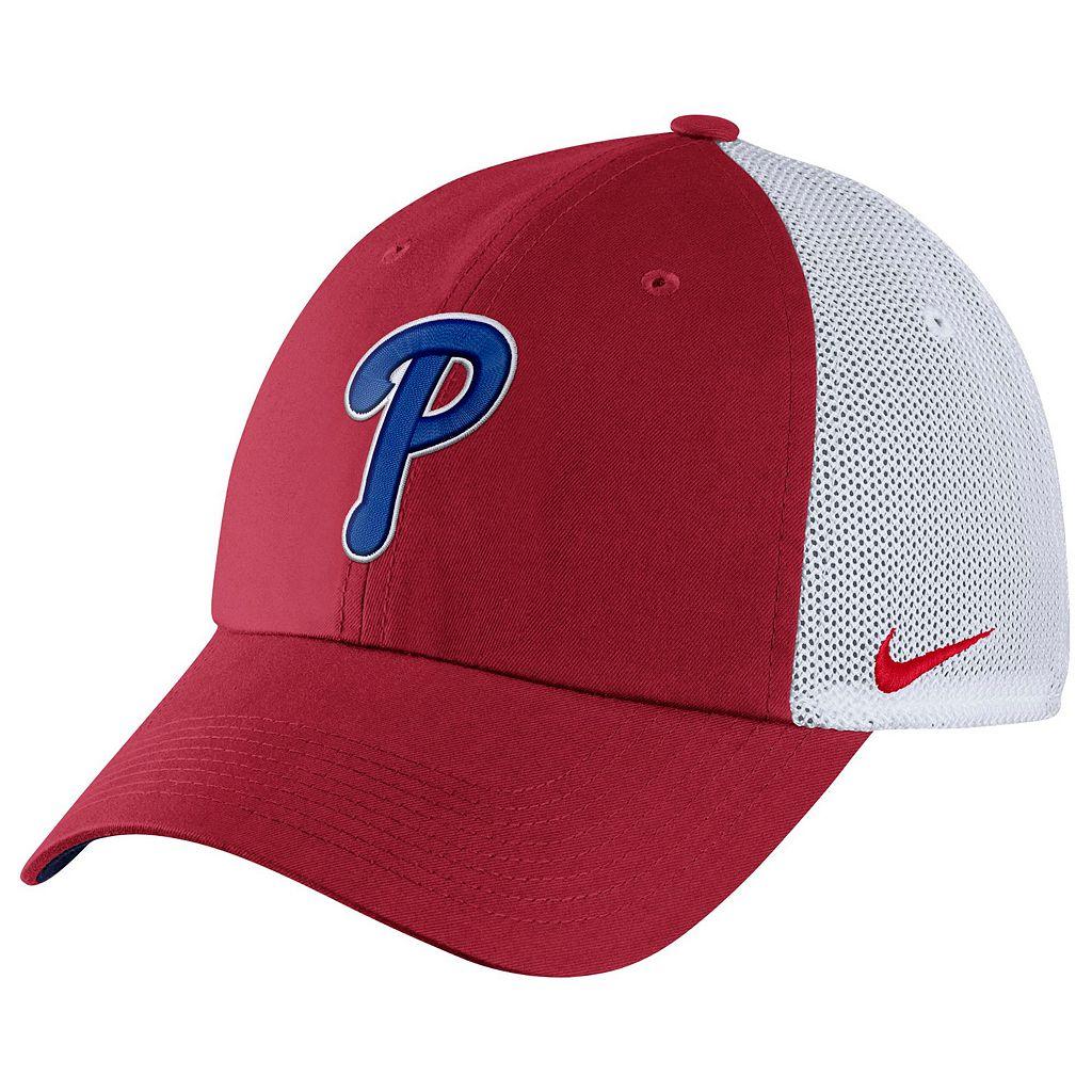 Adult Nike Philadelphia Phillies Heritage86 Dri-FIT Adjustable Cap