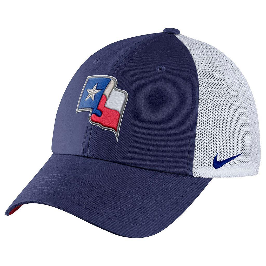 Adult Nike Texas Rangers Heritage86 Dri-FIT Adjustable Cap