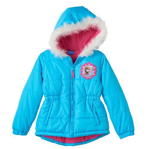 f64fac7d161e Disney's Frozen Elsa, Anna & Olaf Girls 4-6x Hooded Puffer Jacket