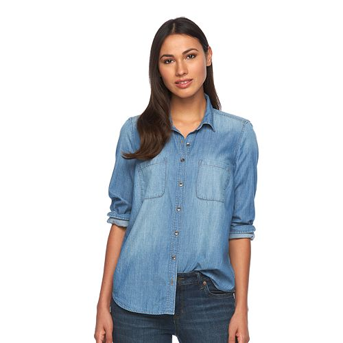 Women's SONOMA Goods for Life™ Chambray Shirt